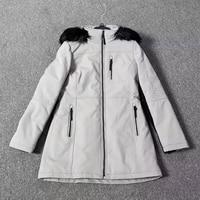 Brand Winter Jacket Women Thick Parkas 2017 Long Sleeve Black Hooded Warm Coats Calvin High Quality