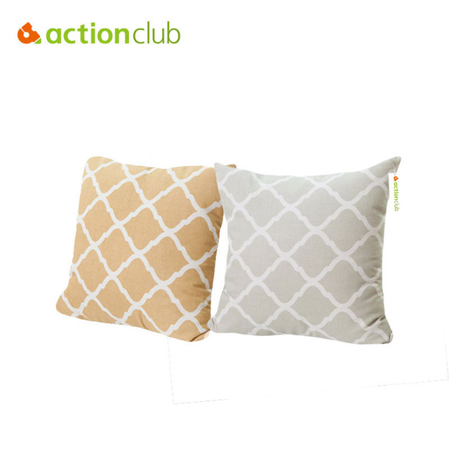 Actionclub Europe Style Cushion Cover Modern Simple Diamond Pattern 60*60cm Cushion  Cover For Home