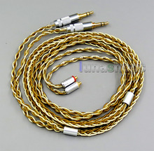 Balanced Pure Silver Gold Plated 8 Cores Cable For Sony PHA-3 Shure SE215 SE315 SE425 SE535 SE846 LN005978