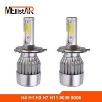 2pcs Car Headlights 72W 7600LM Led Light Bulbs H1 H3 H7 9005 9006 H11 H4 H13