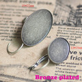 Rhodium Plated 7 Colors Leverback Earring Hooks Oval Shape Teeth Edge Cabochon Tray Bezel Blank Base Setting Accessories 10*14mm