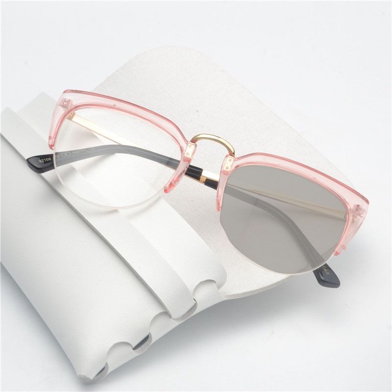 MINCL2018 Brand Cat Glasses Spring New Pink Vintage European Style Man Woman Photochromic Glasses NX
