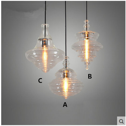 Restaurant Chandelier Light Bar Cafe Creative Personality Nordic American Loft Industrial Glass Hanging Lights nordic restaurant bar glass chandelier wooden american country simple creative personality retro cafe chandelier