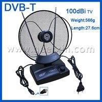 100DBi UHF VHF FM DVB T Amplified Indoor TV Antenna