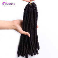 Chorliss 14 30strands Pc Dreadlocks Synthetic Crochet Twist Braiding Hair Extentions Pure Color Soft Dread Hairstyle