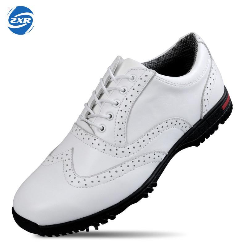 Professionnel Véritable Cuir Imperméable chaussures De Golf pour hommes bonne qualité respirant chaussures antidérapant chaussures de sport