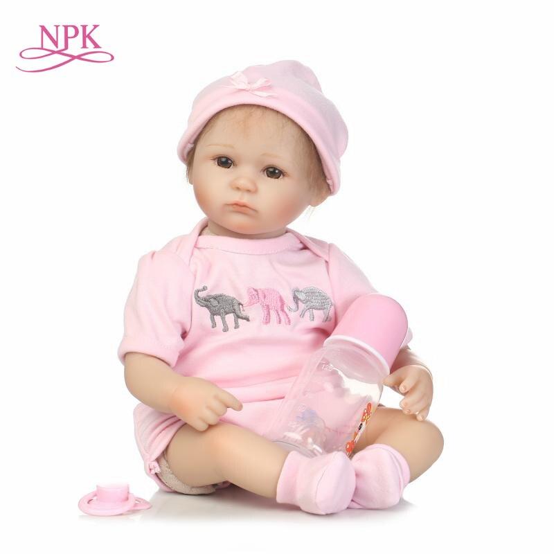 NPK reborn premie en gros réaliste Reborn bébé poupée cadeau d'anniversaire pour les filles mohair appliqué à la main