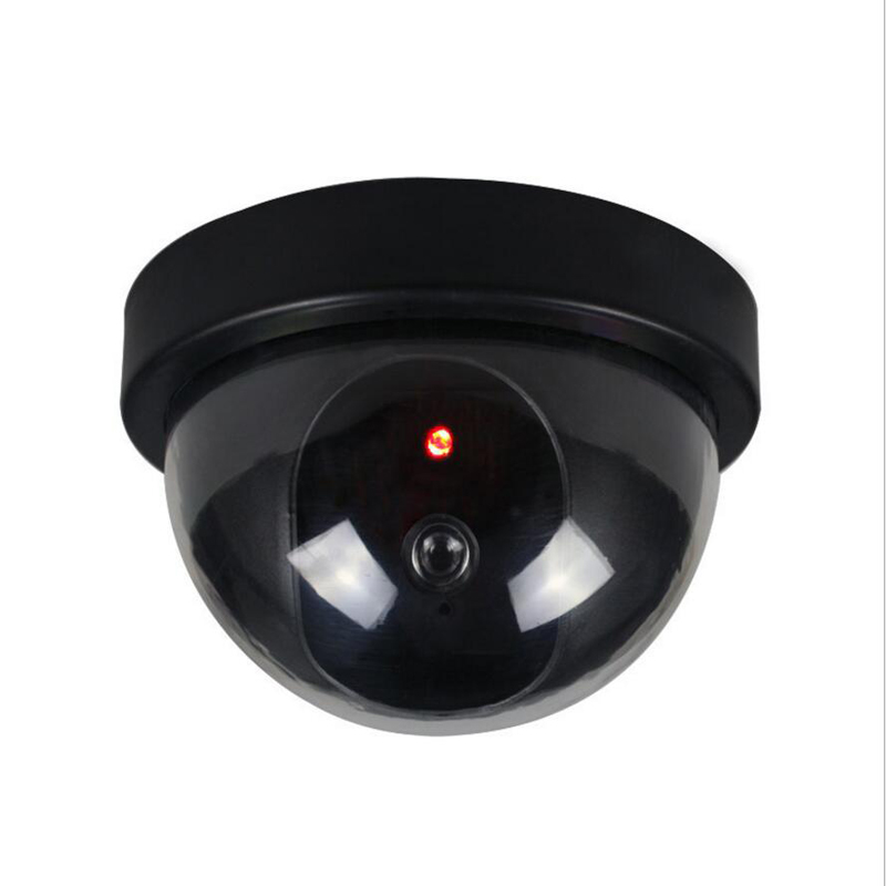 Dummy Security Fake Camera Simulated video Surveillance indoor/outdoor Dummy Ir Led Light Fake Dome camera for Home safty fake dummy security camera cctv surveillance system with realistic simulated leds outdoor indoor for home cam warning sticker