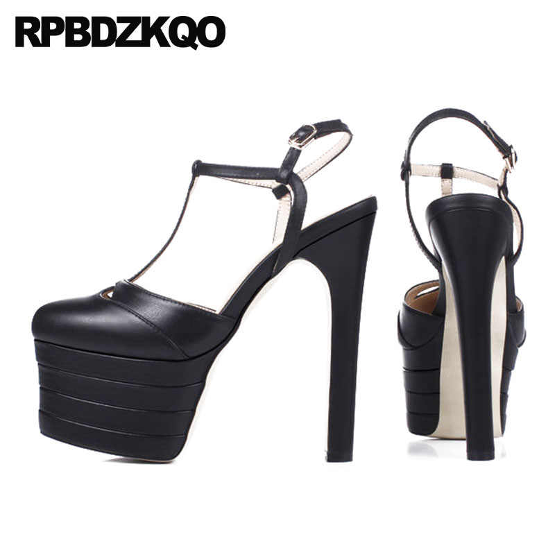platform t strap heels