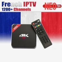Français Boîte IPTV Arabe IPTV H96 Android 7.1 TV Box RK3229 Quad core Cortex HDMI 2.0 WIFI 4 K 1080 P H.265 Set Top Box Media lecteur