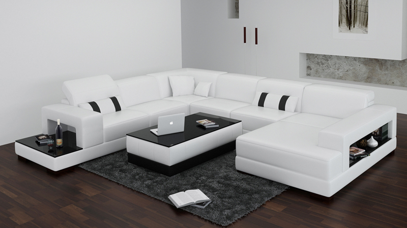 Moderne Wohnzimmer Couch wohnzimmer couch hocker wei leder modern parkett Moderne Wohnzimmer Couch
