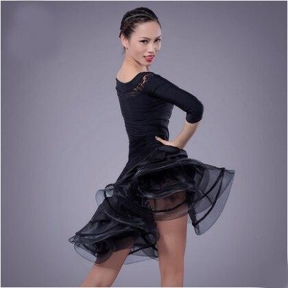 Fustan Vallëzimi Latin Gratë Sexy Ballroom Tango Vallëzimi Vajza - Arte, zanate dhe qepje - Foto 4