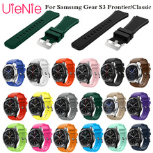 купить Gear S3 Frontier/Classic Watch Band 22mm Silicone Sport Replacement Watch Men women's Bracelet watches Strap for Samsung Gear S3 по цене 110.72 рублей