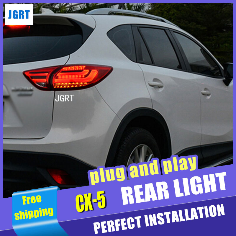 Car Styling for Mazda CX-5 Taillight assembly 2011-2017 CX5 LED Tail Light New CX-5 LED Rear Lamp DRL+Brake with hid kit 2pcs. osmrk led rear bumper light brake lamp driving light night running lamp for mazda cx 5 2012 16