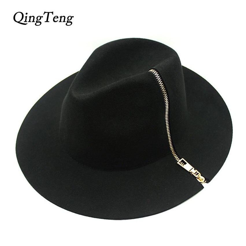 Ladies High Fashion Wide Brim Fedora Hat