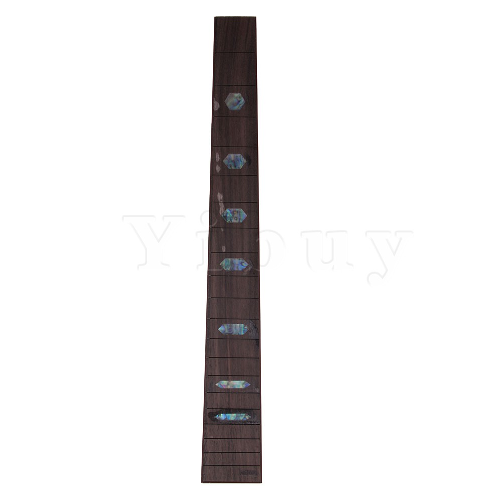 Yibuy 41 20 Frets Rhombus Shell Guitar Part Fretted Solid Rosewood Fretboard yibuy 2pcs inlay colorful guitar head veneer shell sheet new