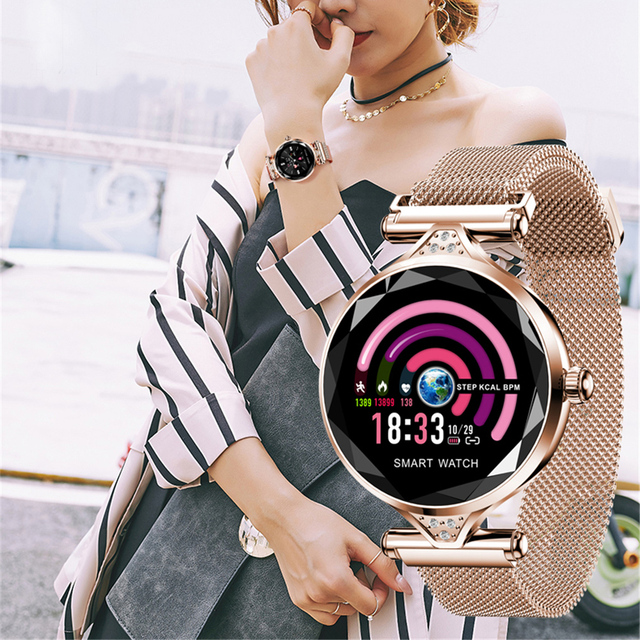 H1 Lady Smart Watch Fashion Women Watch Heart Rate Monitor Fitness Tracker Women Smartwatch Bluetooth Waterproof Smart Bracelet. 1