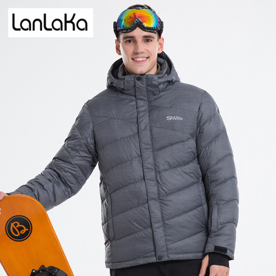 LANLAKA 2018 New Brand Ski Jacket Men High-Quality Winter Waterproof Coat Warm Snowboarding jackets Gray Ski Jackets Male laptop keyboard for sony svs13a1x9s svs13a1y9e svs13a1y9espr svs13a1z9e svs13a1z9r silver without frame hungary hg hu