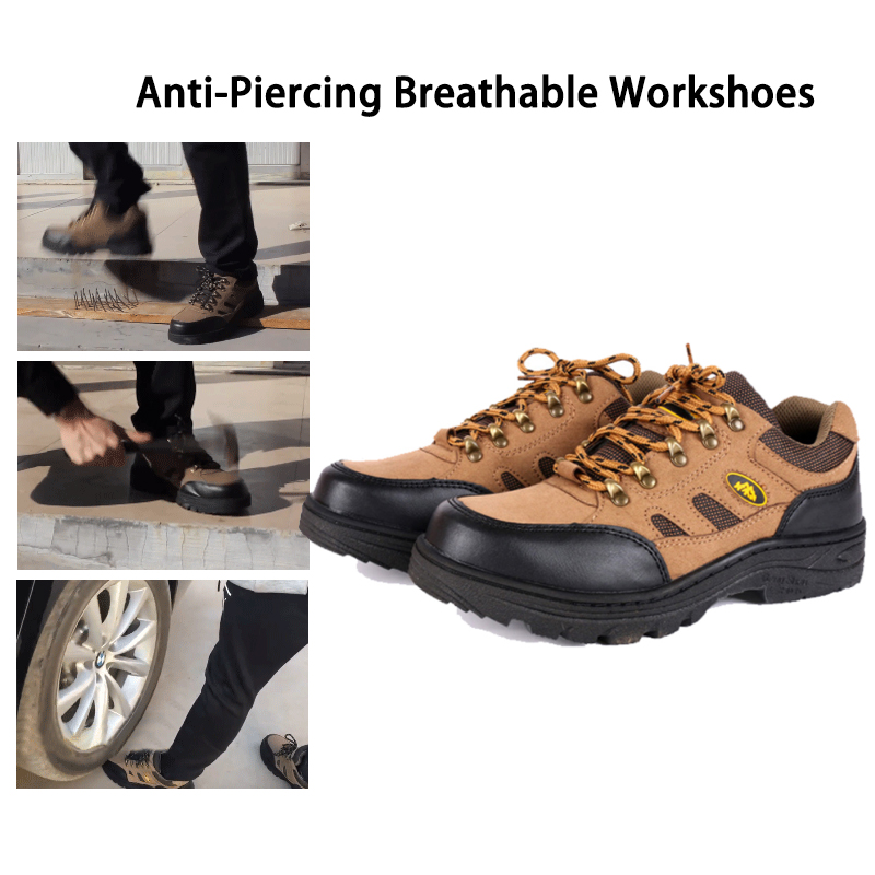 Anti-Piercing Workshoes Breathable Steel Toe Caps Work Safety Shoes Non-slip Platform Anti-puncture Tooling Boots for Man Woman