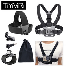 For Gopro Accessories set Chest Strap mount Head strap Band for go pro hero 6 5 4 3 sjcam sj4000 for xiaomi yi 4K Action Camera(China)