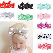 Cotton Solid Start Kids Girl Baby Headband Toddler Lace Bow Flower Infant Hair Band Accessories Lot