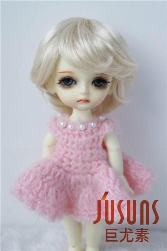 JD075 1/8 modni sintetični mohair BJD lasulje za lutke velikosti 5-6 palčnih modnih kratkih lutk visoko kakovostnih dodatkov za lutke