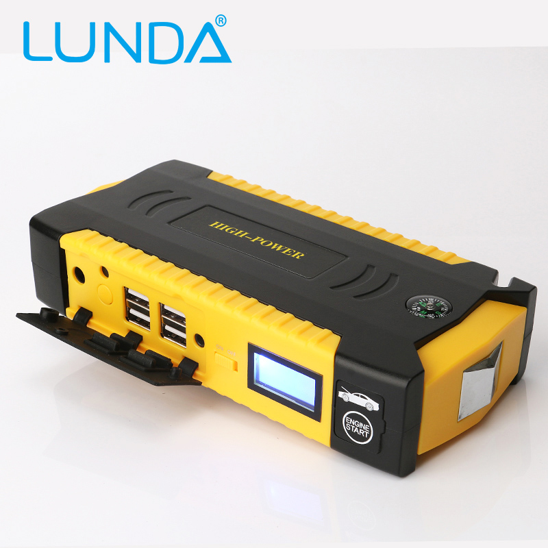 lunda new 19b car jump starter great discharge rate diesel auto power bank for car motor vehicle. Black Bedroom Furniture Sets. Home Design Ideas