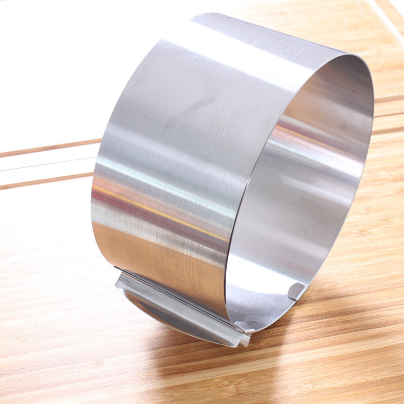 MINGLI Retractable Stainless Steel Circle Foam Ring Cake