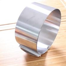Intrekbare Roestvrij Staal Cirkel Schuim Ring Cake Bakken Tool Set Size Vorm Verstelbare Bakvormen Zilver 16 30Cm