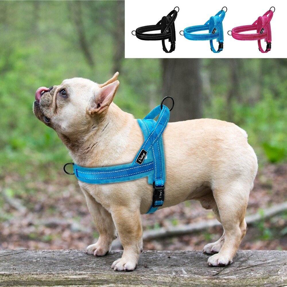 Weiche Keine Pull Hund Harness Weste Flanell Padded Pet Großen Hund Harness Nylon Reflektierende Für Medium Large Hunde Pitbull Bulldog mops
