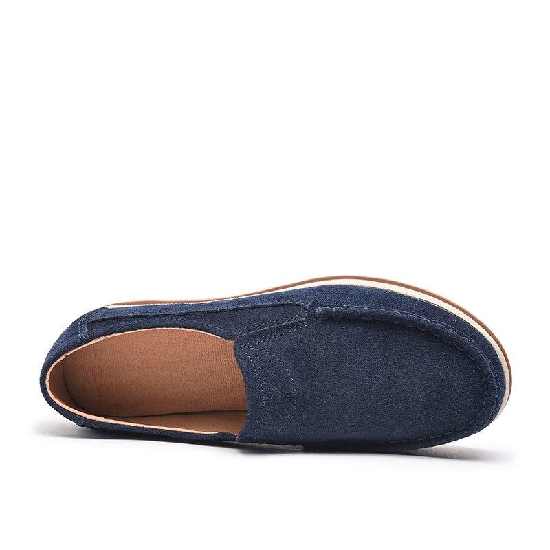 Nouveau blue Black khaki 522 On Casual 522 Véritable Plate En Mocassins Cuir Dame 522 O16u Appartements forme gray 522 Slip Femme Automne Chaussures Printemps Ss Mocassin Femmes IyvfgbY7m6