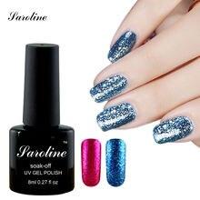 Saroline 3D Shining bluesky lucky ColorGlitter Platinum UV Nail Gel Polish Soak Off UV/LED Lacquer Vernis Semi Permanent