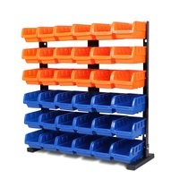 36 Pcs Bin Storage Rack Shelving Garage Storage Rack Tool Organiser Box Workshop