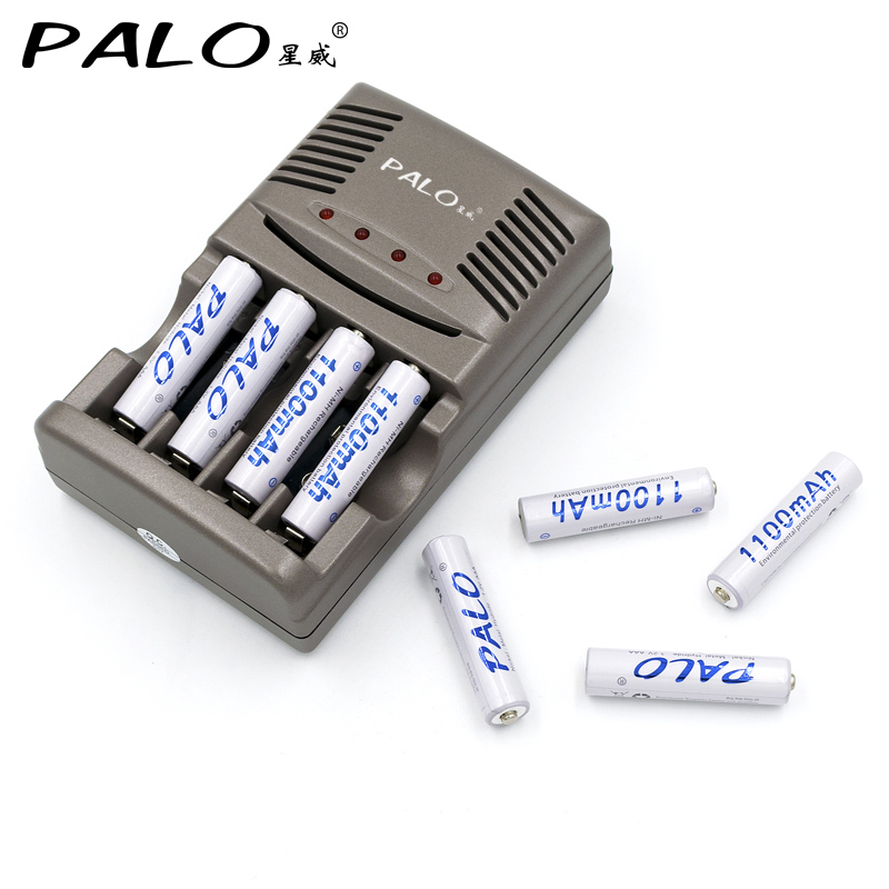 Us 13 6 25 Off 4 Slots 1 2v Aa Aaa 9v Auto Battery Charger 8pcs Aaa Nimh 1100mah Rechargeable Batteries In Rechargeable Batteries From Consumer