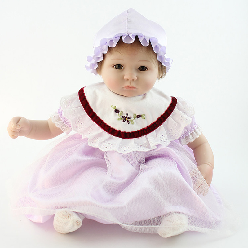 Child Lifestyle Baby Dolls Lifelike toys for Kids Gift white 18 inch Girls Reborn Baby Cute Silica Gel Safe bjd doll squishy fashion bjd dolls zipper bag backpack for 18 inch bjd doll accessories toys for girls christmas birthday gift for kids toys