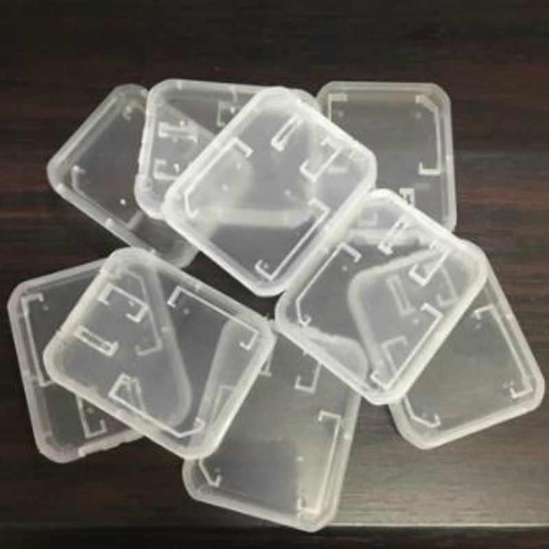 10 pcs/lot Transparent Standard SD SDHC étuis de carte mémoire boîte de support de stockage nouveau