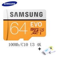 SAMSUNG Memory Card 256GB 128GB 64GB 32GB 16GB 100Mb S Micro SD Card Class10 U3 Microsd