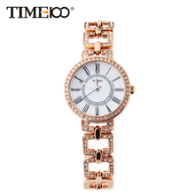 Time100 Vintage Women's Bracelet Watches Skeleton Stainless Steel Strap Ladies Quartz Watches Wrist Watches relogio feminino