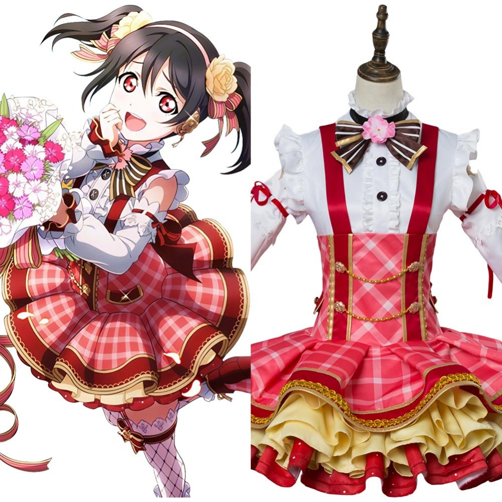 Love Live! Sunshine!! Nico Yazawa Bouquet Cosplay Adult Women Girl Dress Uniform Halloween Carnival Cosplay Costume