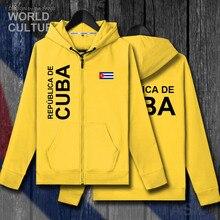 Cuba cuban cub cub moletom dos homens hoodies inverno com zíper cardigan casacos de camisas dos homens jaquetas roupas nação agasalho moda 2018
