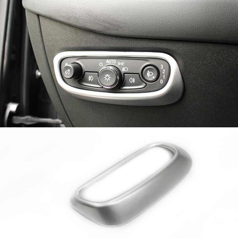 Mobil Styling Headlight Switch Tombol Controller Cover Decal Trim untuk Chevrolet Holden Equinox Ketiga Ge 2018 2019 2020 LHD
