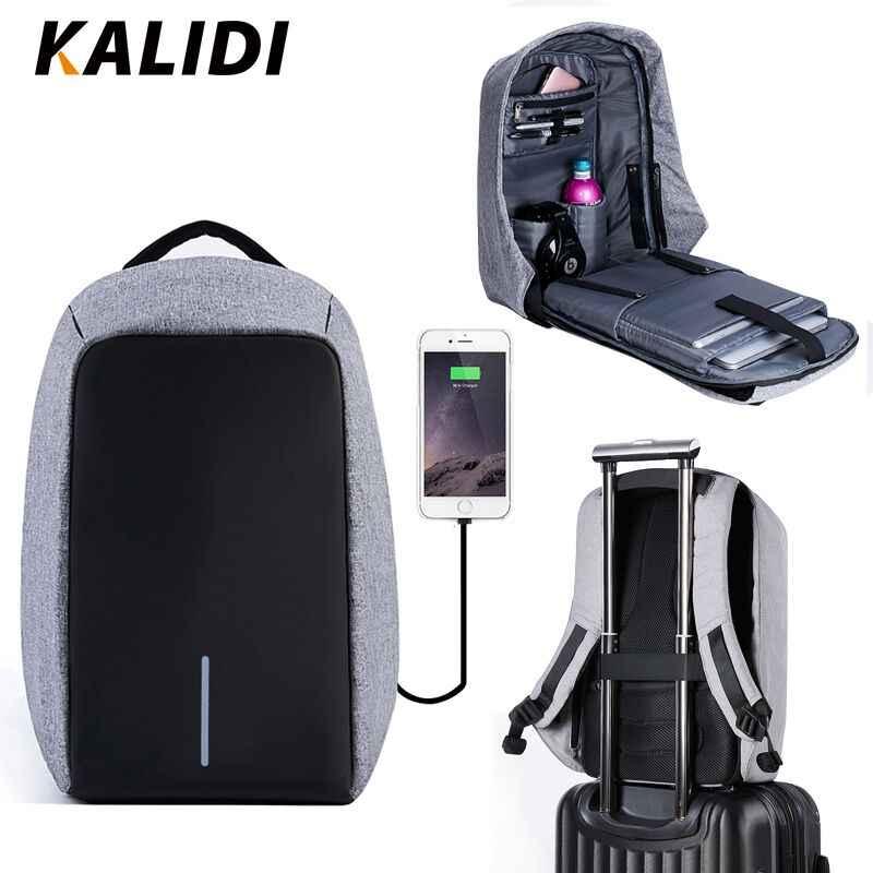 6d754cc0225 KALIDI Waterproof Laptop Backpack Men 15inch Multifunction Anti theft Backpack  USB Charging Male Travel School Backpacks