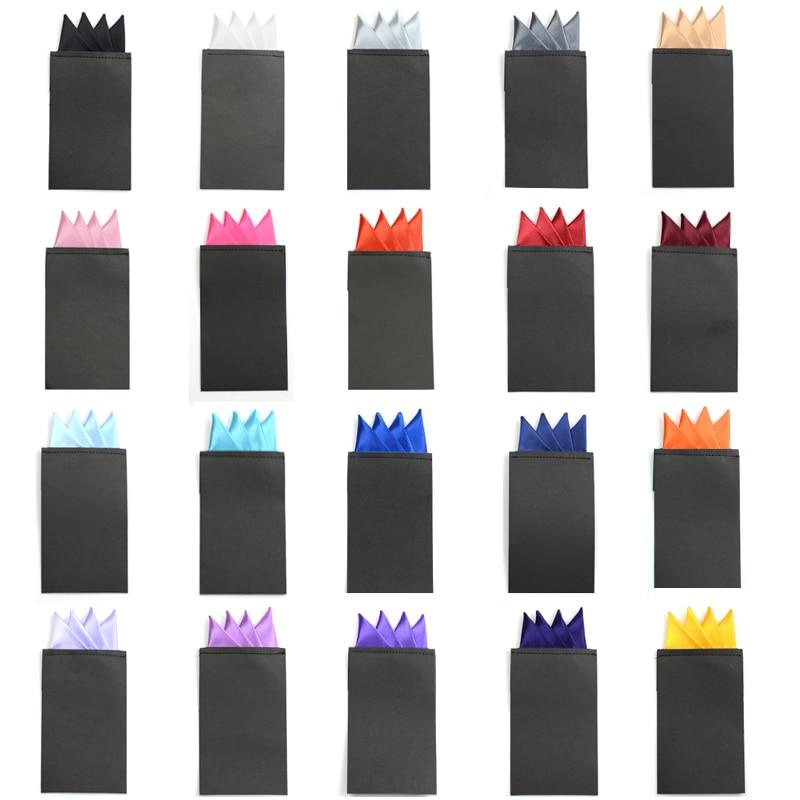 Men Formal Solid Color 4 Folded Hanky Pocket Square Pre-folded Handkerchief New YYTIE0061