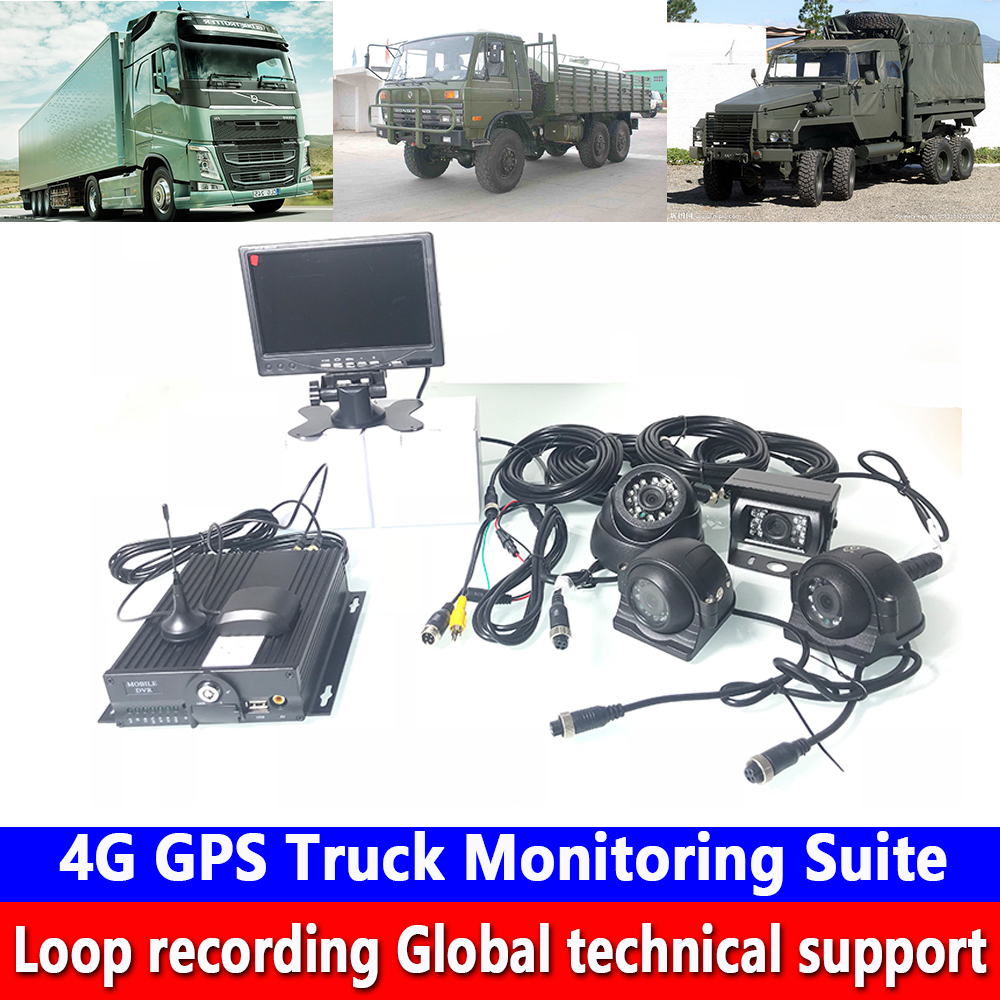 Todos-veículo de vídeo Monitoramento De host 4G GPS Monitoramento Caminhão Suite todos os modelos da ambulância/passageiro do carro geral apoio interfone