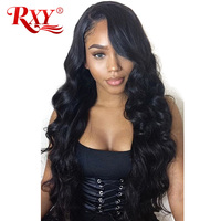 RXY 13x6 Peruvian Body Wave Wig Guleless Lace Front Human Hair Wigs For Black Women Free Part Pre Plucked With Baby Hair Remy