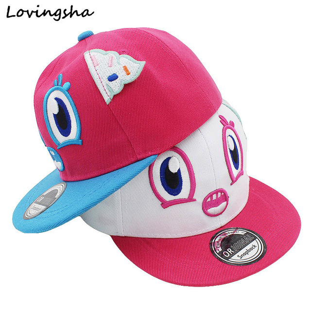 7be31e9851d LOVINGSHA Boy Baseball Caps 3-8 Years Old Kid Snapback Caps Cute Character  Design High