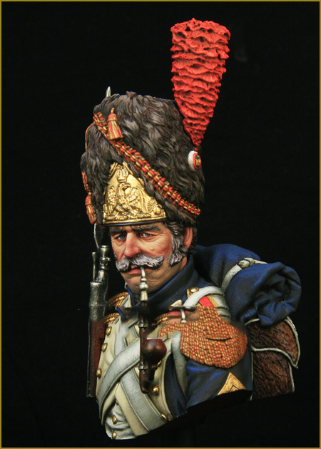 <font><b>Scale</b></font> Models <font><b>1/10</b></font> French Grenadiers of the Imperial Guard <font><b>bust</b></font> figure Historical Resin Model image