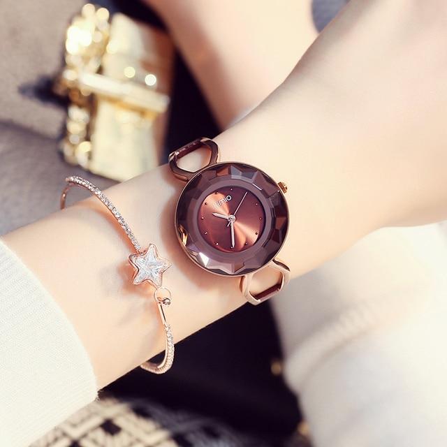 Kimio Fashion luxury Women's Unique design quartz watch bracelet Ladies Dress Luxury Bracelet wirstatches relogio masculino &BOX