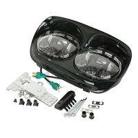 1 Set Black LED Headlight Projector Daymaker Lamp For Harley Road Glide 2003 2013 With Free