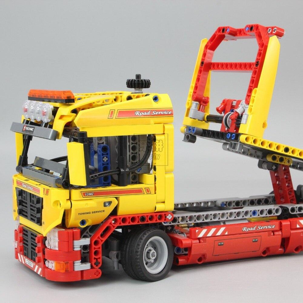 Technic Series 1143 pièces blocs de construction jouets pour enfants à plat camion briques jouet cadeaux Compatible Legoe Technic 8109 - 3